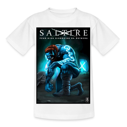 Saltire Invasion Gaelic - Teenage T-Shirt