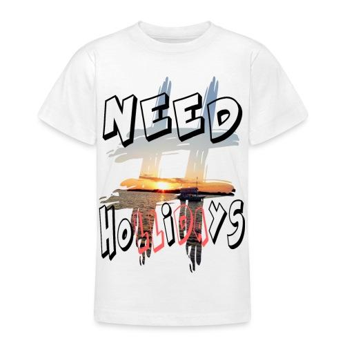 H-Tag Need Hollidays - T-shirt Ado