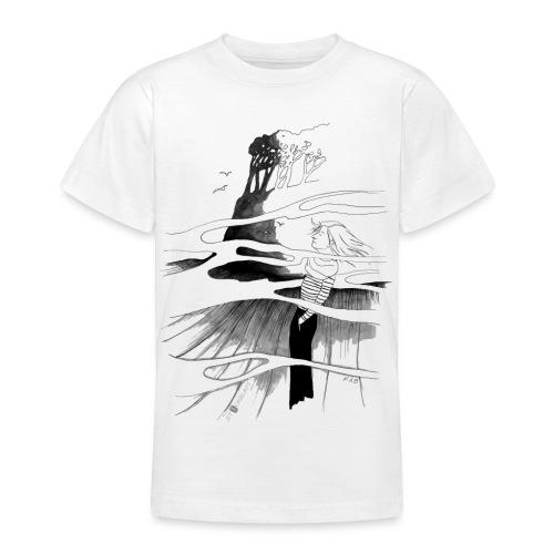Ein Ort (grau) - Teenager T-Shirt