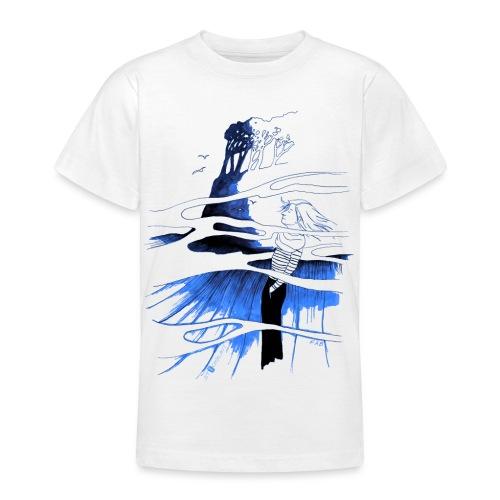 Ein Ort (blau) - Teenager T-Shirt