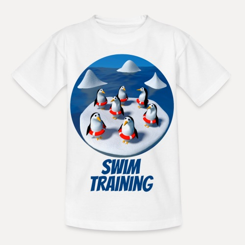 Pinguine beim Schwimmunterricht - Teenage T-Shirt