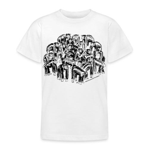 chimpanzee group - Teenage T-Shirt
