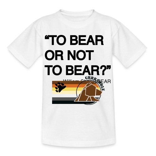grrr_shakesbearTo bear or not to bear - T-shirt Ado