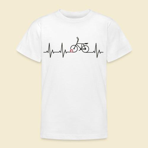 Radball | Heart Monitor Black - Teenager T-Shirt