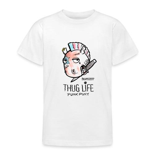 Stef 0004 00 Das Leben ist kein Ponyhof - Teenager T-Shirt