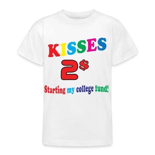 kisses 2 dollar - T-shirt tonåring
