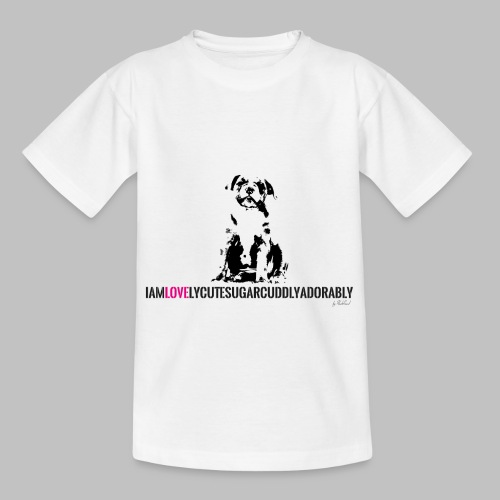FRANZÖSISCHE BULLDOGE - WELPEN - LOVE - Teenager T-Shirt