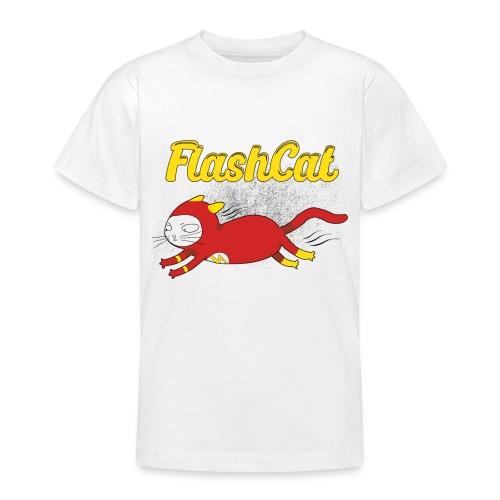 FlashCat Vintage Comic Katze Superheld - Teenager T-Shirt