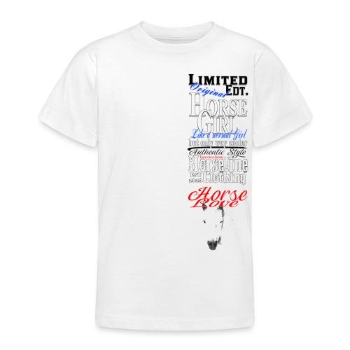Limited Edition HorseGirl Pferdemädchen Pferde - Teenager T-Shirt