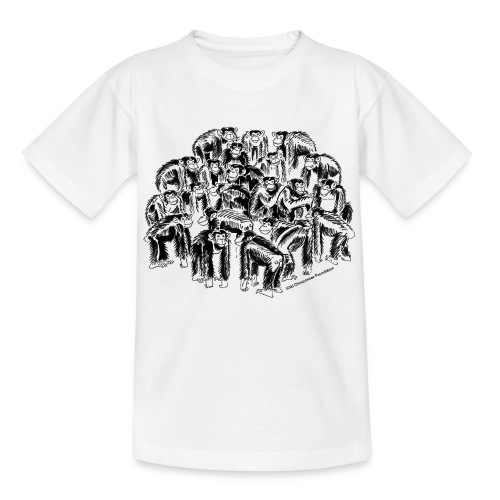 chimpanzee group - Teenage T-Shirt