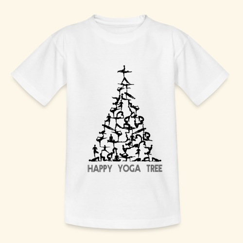 Happy Yoga Christmas Tree - Teenager T-Shirt