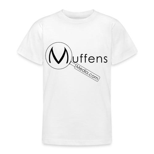 muffens media tshirt white - Teenage T-Shirt