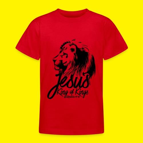 JESUS - KING OF KINGS - Revelations 19:16 - LION - Teenage T-Shirt