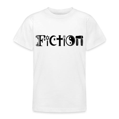 Fiction Schwarz - Teenager T-Shirt