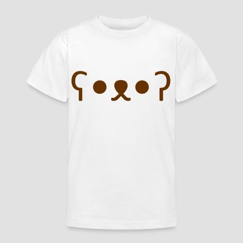 Kuma Kaomoji (Marron) - T-shirt Ado