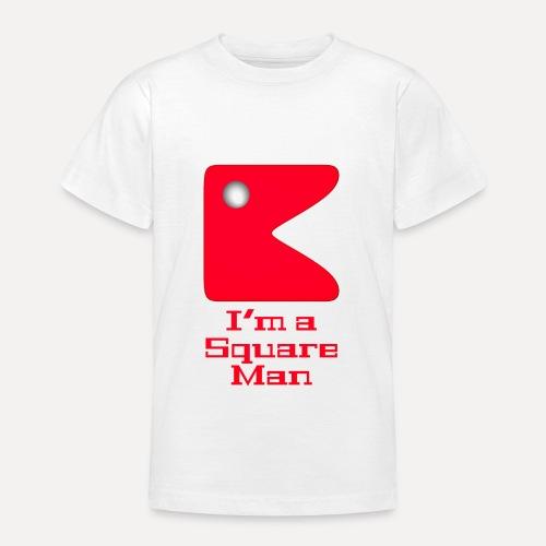 Square man red - Teenage T-Shirt