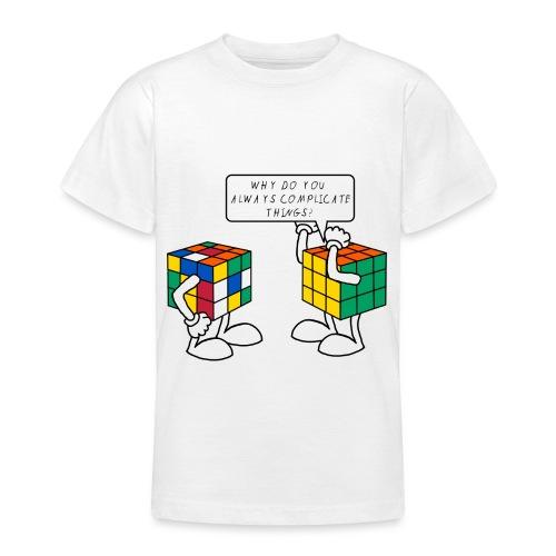 Rubik's Cube Humour Complicate Things - Teenage T-Shirt