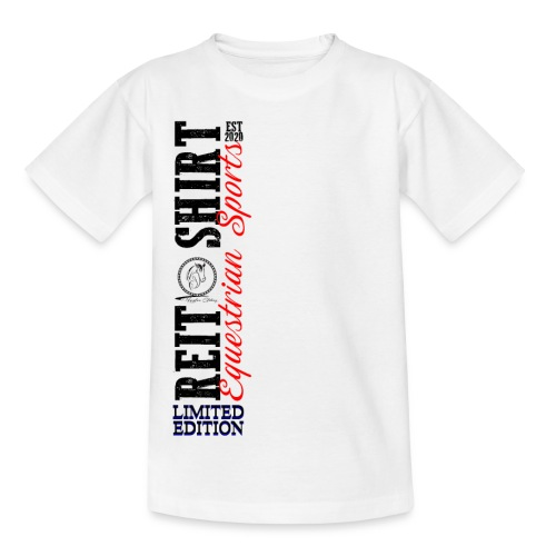 ReitShirt Limited Edition Pferde Reiten - Teenager T-Shirt