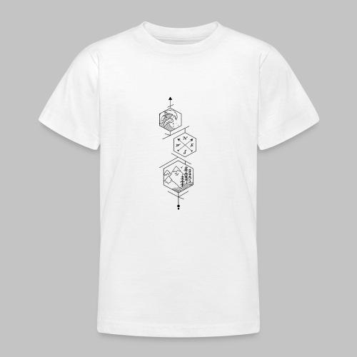 hexagones - Teenage T-Shirt