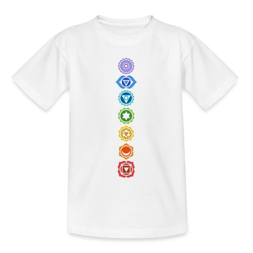 The 7 Chakras, Energy Centres Of The Body - Teenage T-Shirt