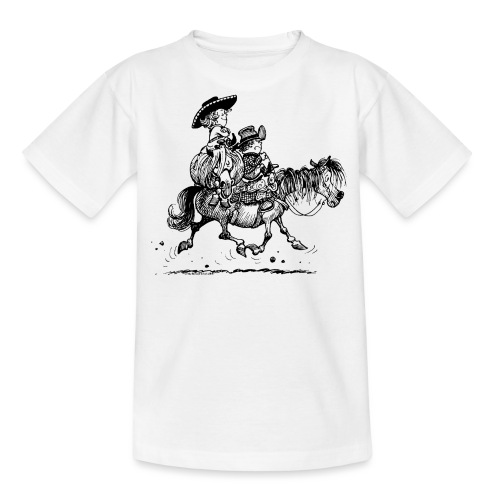 Thelwell Two Cowboys Reiten - Teenager T-Shirt