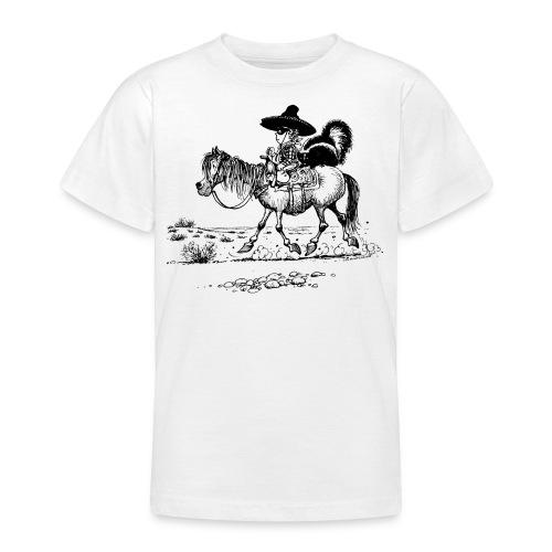Thelwell Cowboy mit einem Stinktier - Teenager T-Shirt