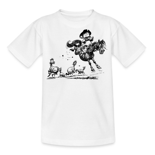 Thelwell Cowboy Westernrodeo - Teenager T-Shirt