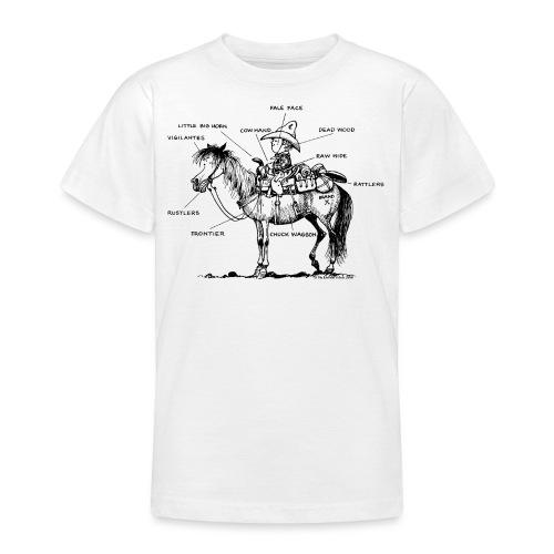 Thelwell Cartoon Bescheribung Westernpferd - Teenager T-Shirt