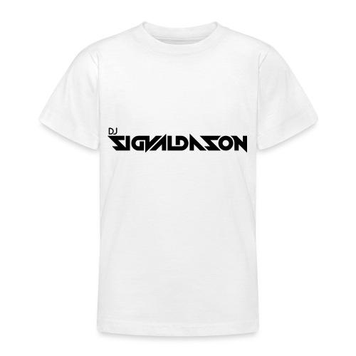 DJ logo sort - Teenager-T-shirt