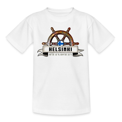 Helsinki Ruori - Merelliset tekstiilit ja lahjat - Nuorten t-paita