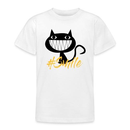 Katze Lachen, Cat Smile - Teenager T-Shirt