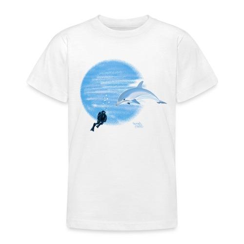 Dolphin and diver - Maillots - T-shirt Ado