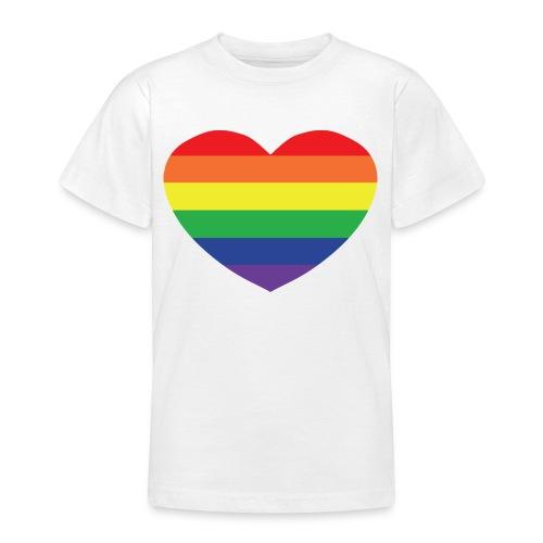 Rainbow heart - Teenage T-Shirt