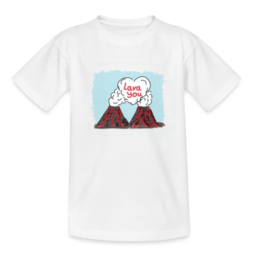 Lava You - Vulkan Liebe - Teenager T-Shirt