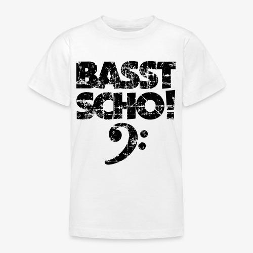 BASST SCHO! Bass Bassschlüssel Bassisten - Teenager T-Shirt