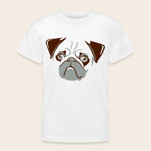 otiz mops kopf 2farbig - Teenager T-Shirt