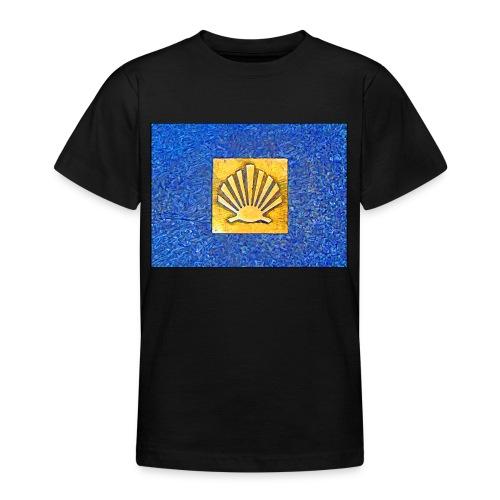 Scallop Shell Camino de Santiago - Teenage T-Shirt