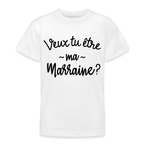 Veux tu être ma marraine? bébé cadeau naissance - T-shirt Ado