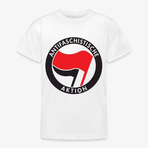 Atnifaschistische Action - Antifa Logo - Teenage T-Shirt