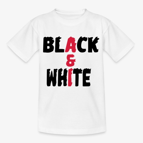 black et white - T-shirt Ado