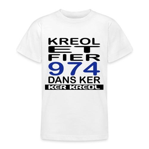 974 ker kreol - Kreole et Fier - T-shirt Ado