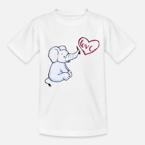 Baby Elefant love - Teenager T-Shirt