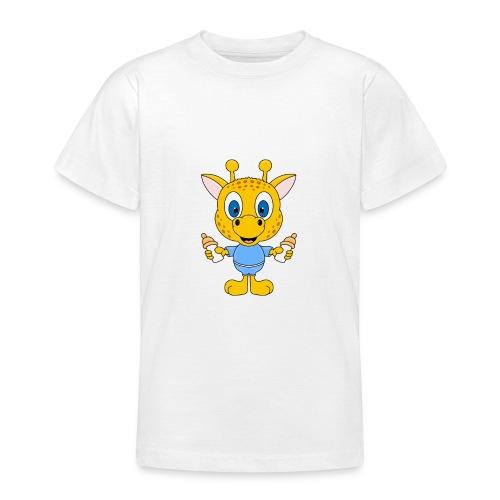Lustige Giraffe - Baby - Geburt - Tier - Milch - Teenager T-Shirt