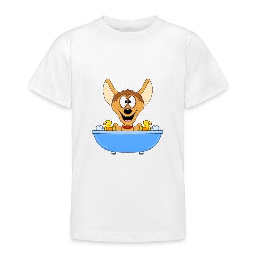 Lustige Hyäne - Badewanne - Kinder - Baby - Fun - Teenager T-Shirt