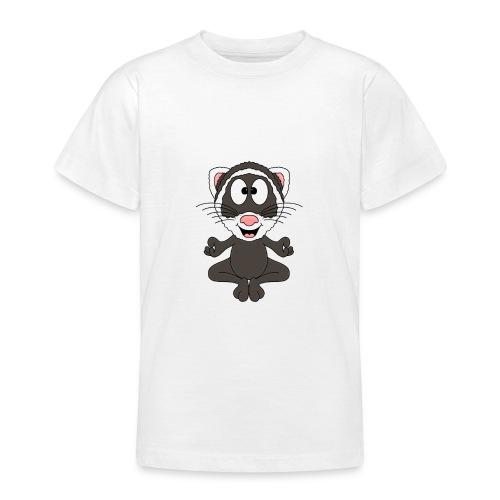 Lustiges Frettchen - Yoga - Relax - Chill - Fun - Teenager T-Shirt