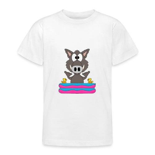 Lustiges Wildschwein - Planschbecken - Shaka - Fun - Teenager T-Shirt