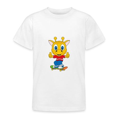 Lustige Giraffe - Skateboard - Sport - Fun - Teenager T-Shirt