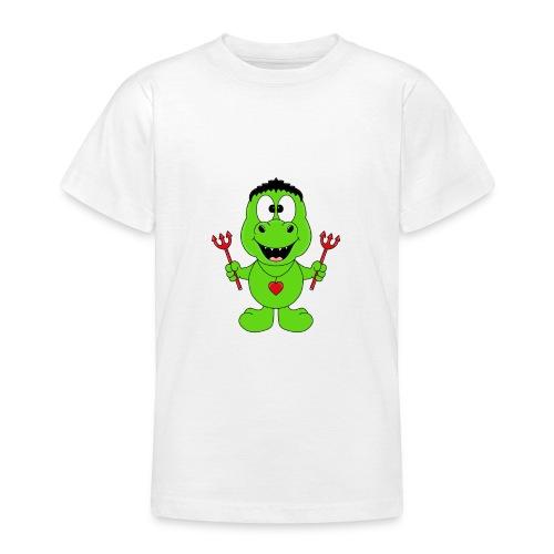 Lustiger Dino - Dinosaurier - Teufel - Kids - Baby - Teenager T-Shirt