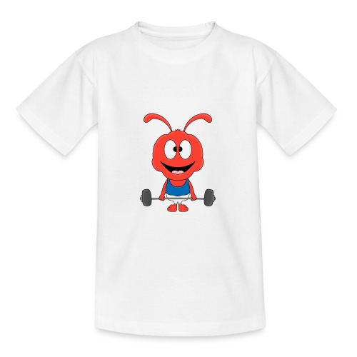 Lustige Ameise - Ant - Fitness - Sport - Fun - Teenager T-Shirt