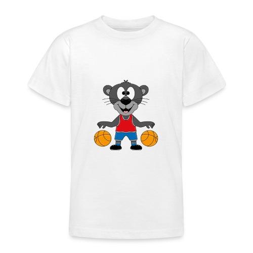 Lustiger Panther - Basketball - Sport - Tier - Fun - Teenager T-Shirt